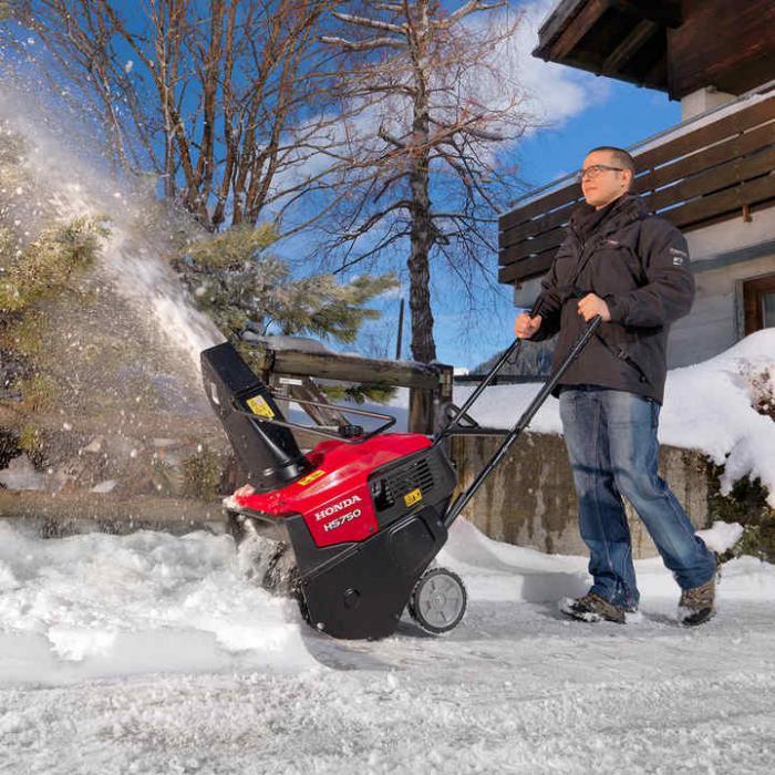 Freză de zăpadă cu un stadiu Honda HS 750 EA, 50 cm lățime de lucru, 10 m distanța de expulzare