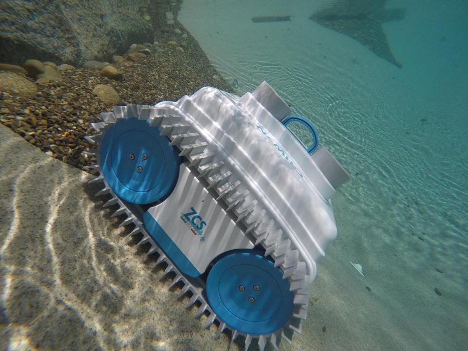Robot curatat piscina NEMh2O – DELUXE, fara fir, autonom, mereu in apa pentru piscine de 25 m