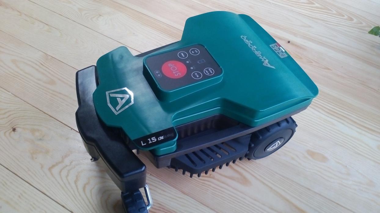 Robot de gazon Ambrogio L15 Deluxe, motor fără perii, 600 mp, giroscop, receptor Bluetooth